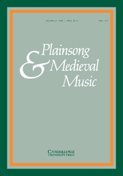 "New issue of the journal ""Plainsong and Medieval Music"" with contributions by project members"